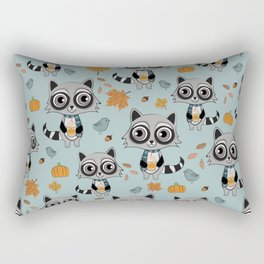 Coffee Lover Raccoon Rectangular Pillow