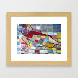 Woman in red Framed Art Print