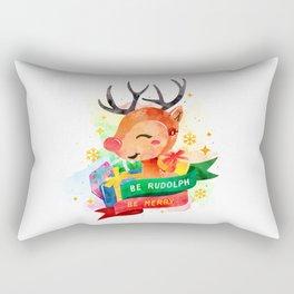 Be Rudolph Rectangular Pillow