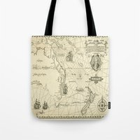 world maps Tote Bags featuring Old Maps by tanduksapi