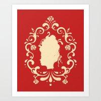 marie antoinette Art Prints featuring Marie Antoinette by Enkel Dika
