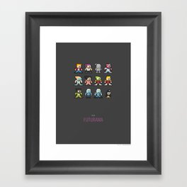 Mega Futurama Framed Art Print