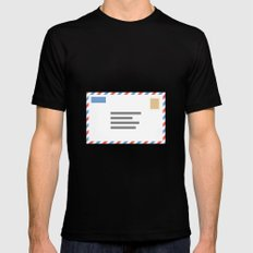 #46 Airmail MEDIUM Mens Fitted Tee Black