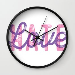 LOVE over HATE - Special Wall Clock