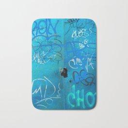 Urban Blue Style Street Graffiti Bath Mat