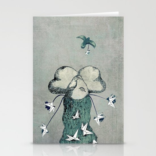 Origami's passion -  a collaboration between Christelle Guilhen and Gwenola de Muralt Stationery Cards