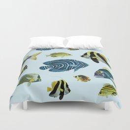 Tropical Fish Pattern - Coastal Beach Duvet Cover