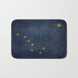 Alaskan State Flag in grungy textures Bath Mat