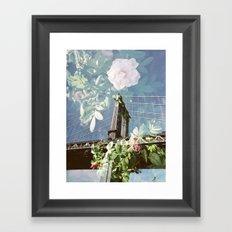 film double, manhattan bridge Framed Art Print
