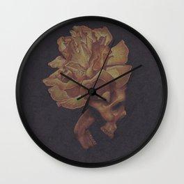 Skull Bloom Wall Clock