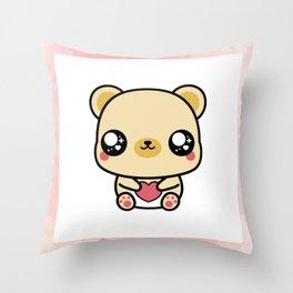 BEAR-Y LOVABLE FRAMED Throw Pillow