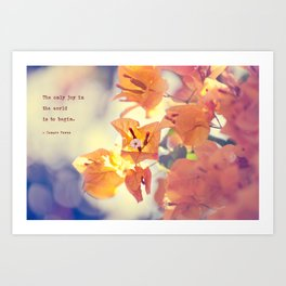 Begin with Joy Art Print