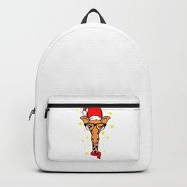Christmas Giraffe Santa Giraffe Backpack