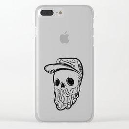 Lust For Life - Digital Skull Traveller Illustration Clear iPhone Case