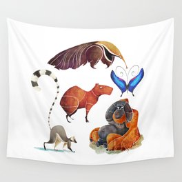 Rainforest animals Wall Tapestry