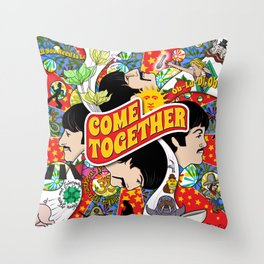 Come Together (Red and Blue) Throw Pillow