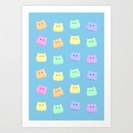 Cat Slimes! Art Print