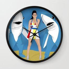 The Shark Coast Wall Clock