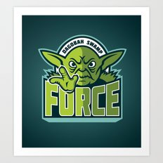 Dagobah Swamp Force - Teal Art Print
