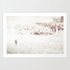 Coney Island 2014 - Beach Art Print