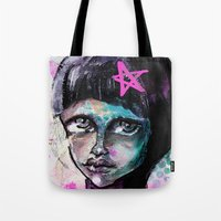 sister Tote Bags featuring SIsTeR by SannArt