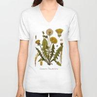 dandelion V-neck T-shirts featuring Dandelion by jbjart