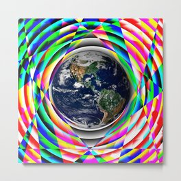 Earth Vibes Metal Print