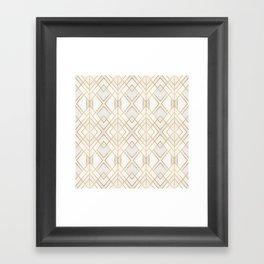 Golden Geo Framed Art Print