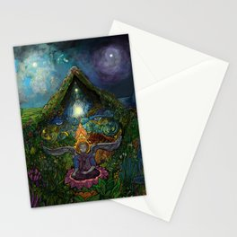 Meditation in the Garden Stationery Cards