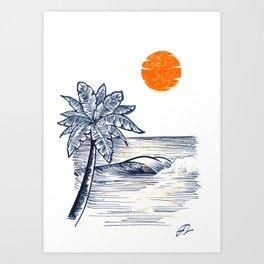 Orange touch Art Print