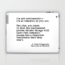 The romantic person - F Scott Fitzgerald Laptop & iPad Skin