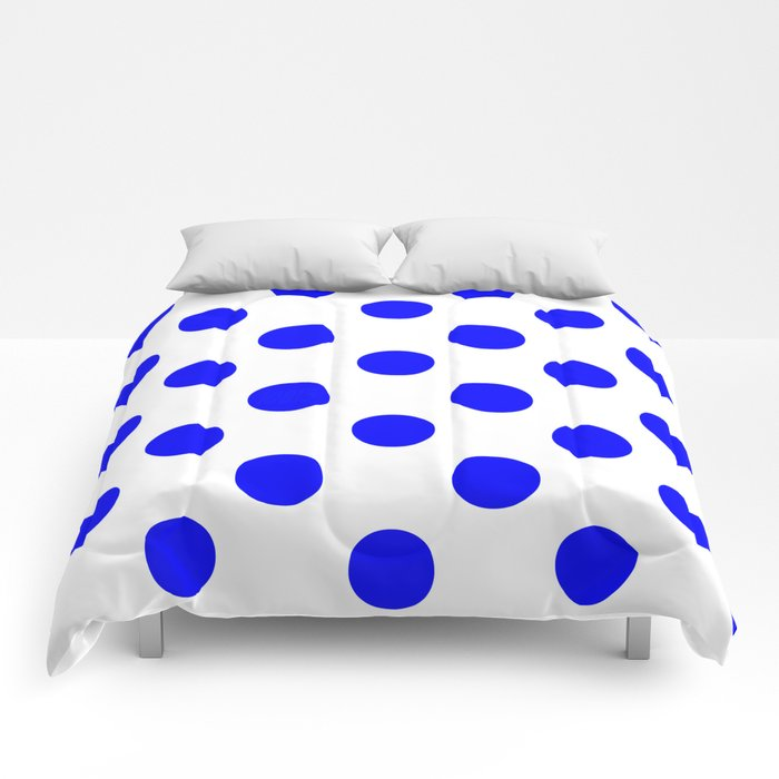 Polka Dots (Blue/White) Comforters