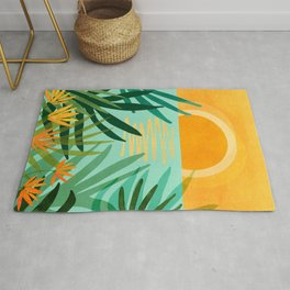 Peaceful Tropics / Sunset Landscape Rug