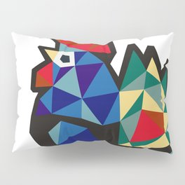 Polish Folk Rooster Pillow Sham