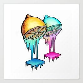 Citric acid Art Print