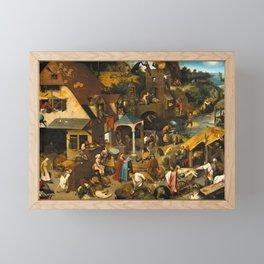 Netherlandish Proverbs (Nederlandse Spreekwoorden) Framed Mini Art Print