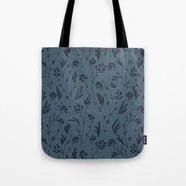 Wild Cosmos, Denim Blue Tote Bag