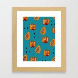 DINNER IN SPAIN BLUE Framed Art Print