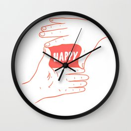 Focus on Happy Wall Clock