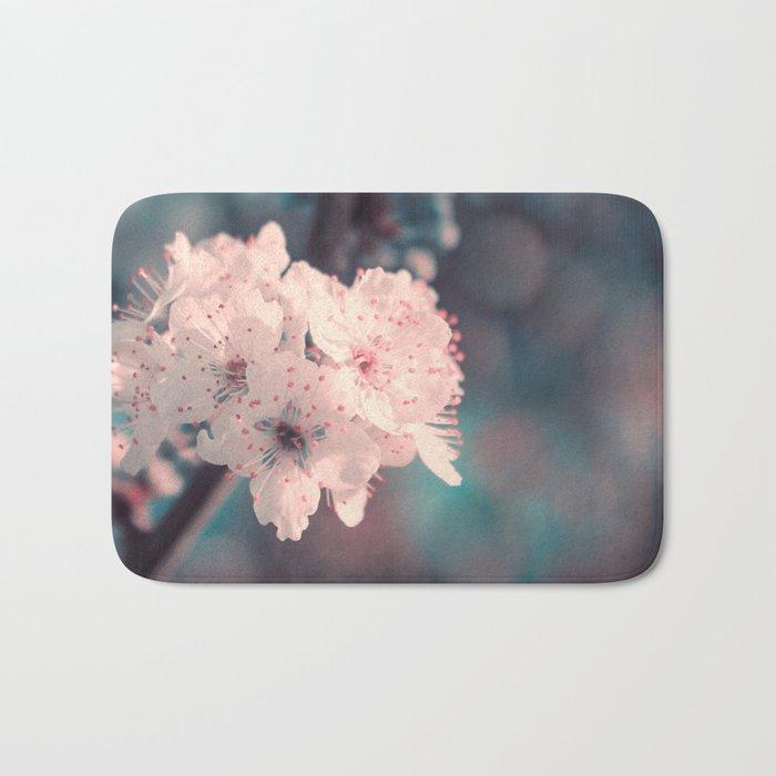 Delicate Strength (Spring White Cherry Blossom) Bath Mat