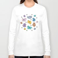 kittens Long Sleeve T-shirts featuring Kittens by Plushedelica