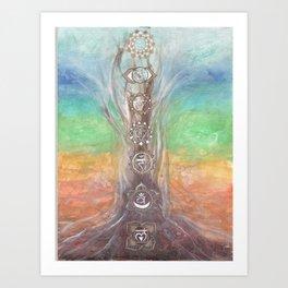 Chakra tree Art Print