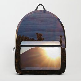 Sunset Canary Islands forest and Volcano Teide in Tenerife Backpack