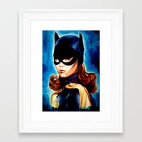 60s Framed Art Prints featuring 60s Batgirl by The Notorious Gasoline Company