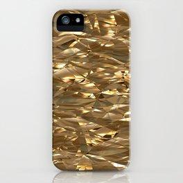 Golden Crinkle iPhone Case