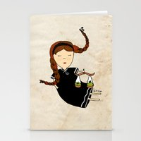 libra Stationery Cards featuring Libra by Kristina Sabaite
