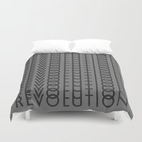 revolution Duvet Covers featuring Revolution by Capital Knight