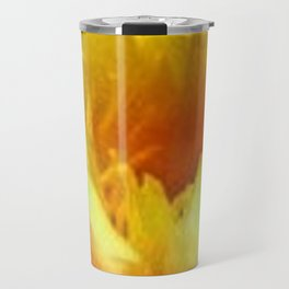 YELLOW WATER LILIES POND GREEN LILY PADS Travel Mug