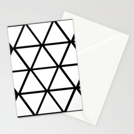 WHITE & BLACK TRIANGLES  Stationery Cards
