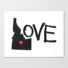 Love, Idaho. Canvas Print